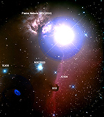 Horsehead Nebula labeled image
